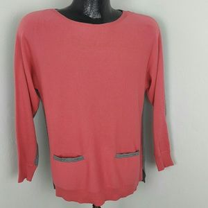 Vince Camuto sweater tunic cotton blend size PM